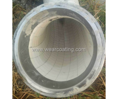 truck mounted concrete pump use liner ceramic pipeline bend